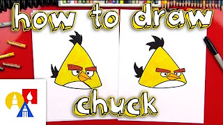 How To Draw Chuck From Angry Birds