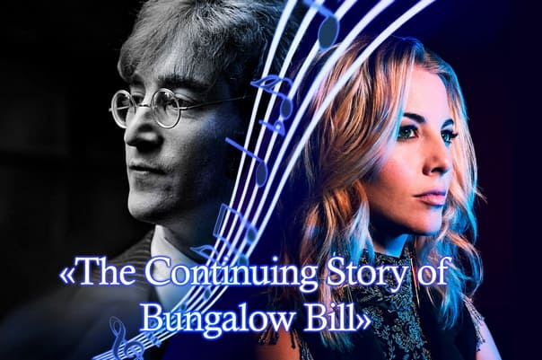 The continuing story of Bungalow Bill by John Lennon. Cover by Morgan James